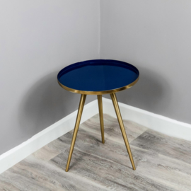 Native Side Table Blue Enamel
