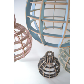 Hanglamp De Lingehof Globe Semi-roze Ø35