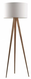Zuiver Tripod Wood Wit Vloerlamp