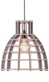 Hanglamp De Lingehof Cone Semi-grijs Ø50