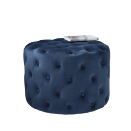 Mistique Blue Tufted Velvet Poef