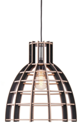 Hanglamp De Lingehof Cone Semi-zwart Ø40