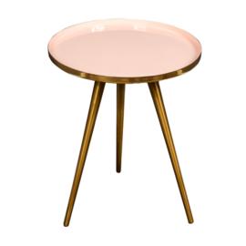 Native Side Table Soft Pink Enamel