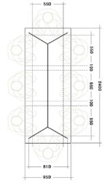 Indusigns Hairpin A-Symetrisch Tafelfame Size M