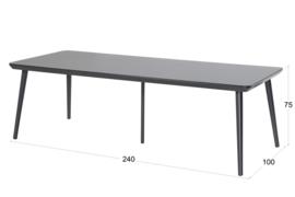 Hartman Sophie Studio Tuintafel Carbon Black 240x100cm