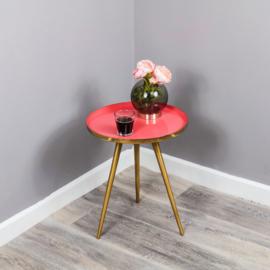 Native Side Table Deep Pink Enamel