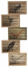 Zuiver Fotolijst Birds Eiken/Goud