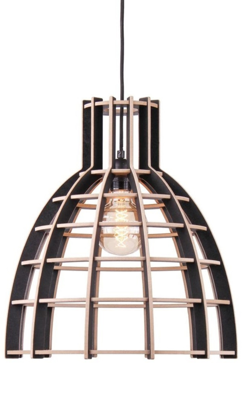 Hanglamp De Lingehof Cone Semi-zwart Ø50