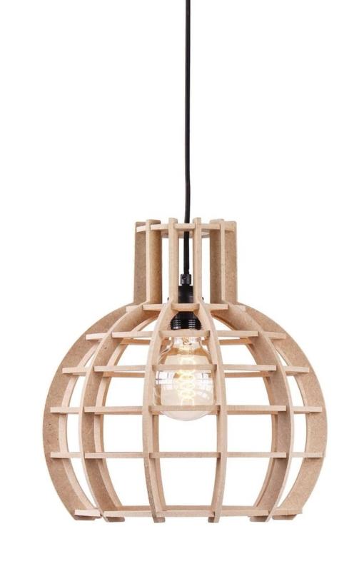 Hanglamp De Lingehof Globe Naturel Ø35