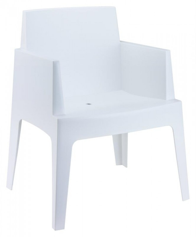 Witte Bureaustoel Leenbakker.Tuinstoel Box Stayathome