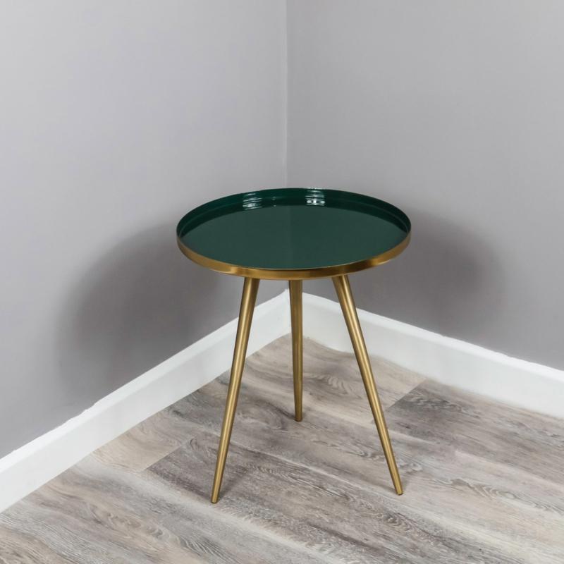 Native Side Table Green Enamel