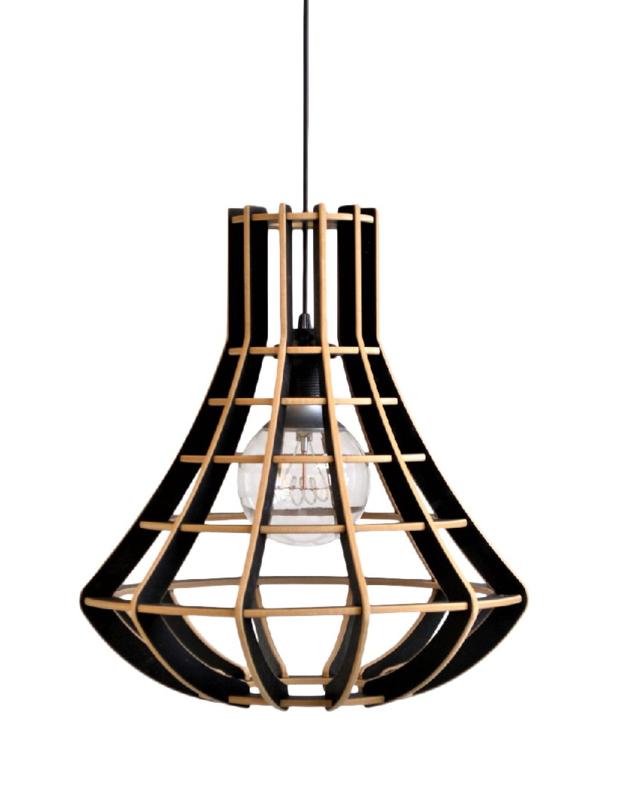 Hanglamp De Lingehof Luster Semi-zwart Ø40