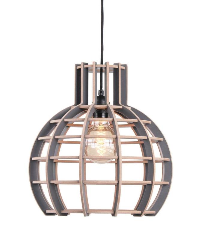 Hanglamp De Lingehof Globe Semi-Grijs Ø50