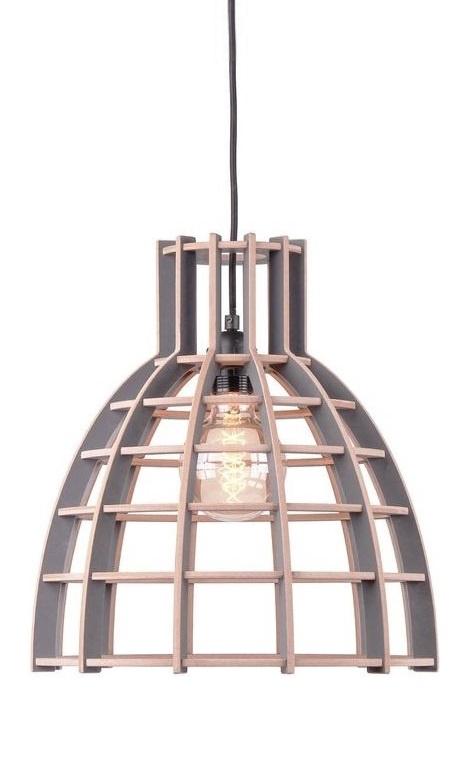 Hanglamp De Lingehof Cone Semi-grijs Ø40