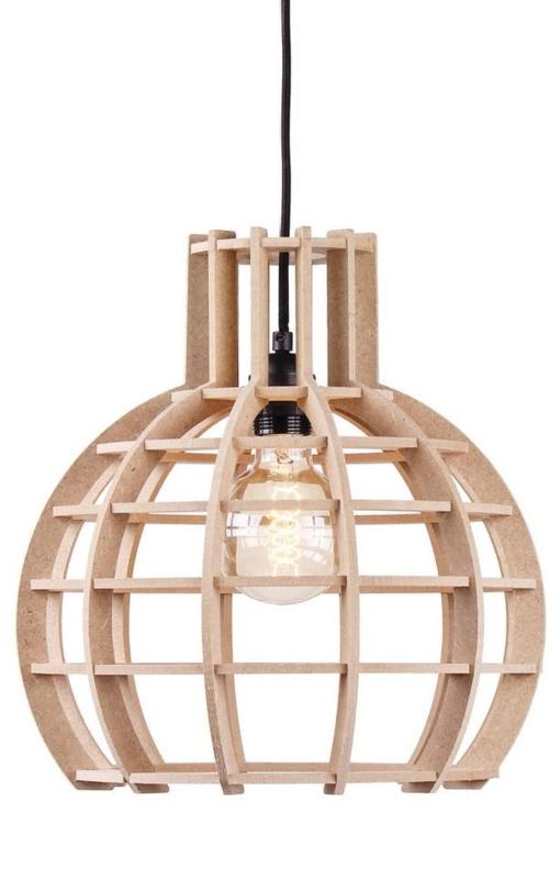 Hanglamp De Lingehof Globe Naturel Ø50