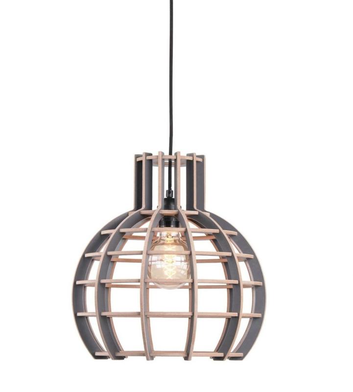 Hanglamp De Lingehof Globe Semi-Grijs Ø35