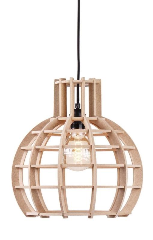 Hanglamp De Lingehof Globe Naturel Ø40