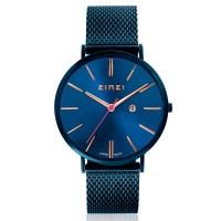 Retro horloge blauwgekleurd