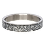 Glitter ring 4mm Zilver