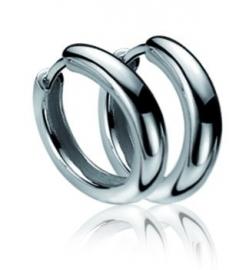 Zilveren creolen 12 x 2mm