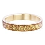 Glitter ring 4mm Goud