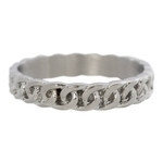 Curb Chain ring 4 mm Zilver
