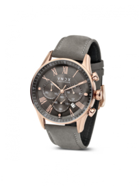 The Boss Leather Rose Gold Grey