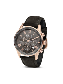 The Boss Leather Rose Gold Black