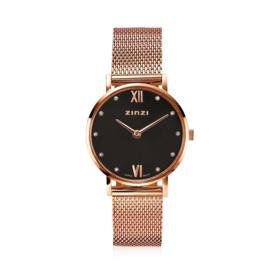 Lady Crystal horloge roségoudkleurig