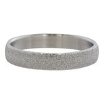 Sandblasted ring 4 mm Zilver