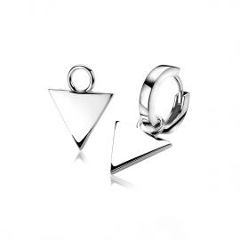 Zilveren creoolhanger driehoek