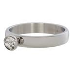 Zirconia ring 1 steens Cristal Zilver