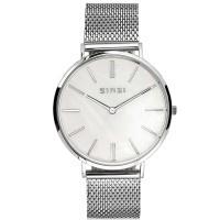 Retro horloge zilverkleurig