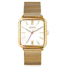Square Roman horloge goudkleurig