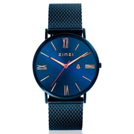 Roman horloge blauwgekleurd