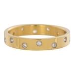 Zirconia ring 14 steens cristal Goud