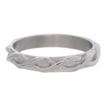 Braided ring 4 mm Zilver