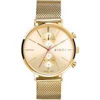 Traveller horloge goudkleurig