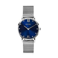 Lady Crystal horloge zilverkleurig