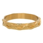Braided ring 4 mm Goud