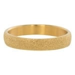 Sandblasted ring 4 mm Goud