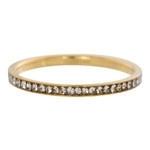 Zirconia ring Cristal Goud