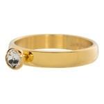 Zirconia ring 1 steens Cristal Goud