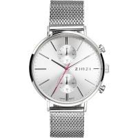 Traveller horloge zilverkleurig