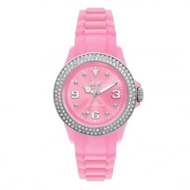 Ice Watch Ice-Stone Stone Sili Medium Pink-Silver