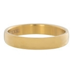 Gladde ring 4mm Goud