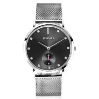 Retro Crystal horloge zilverkleurig
