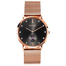 Glam horloge roségoudkleurig