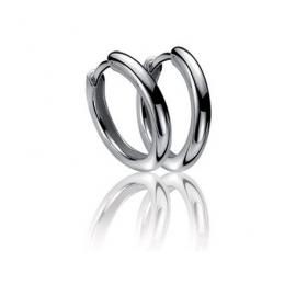 Zilveren creolen 15 x 2 mm