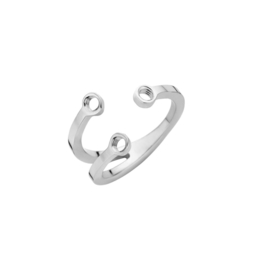 Melano twisted trio stone ring